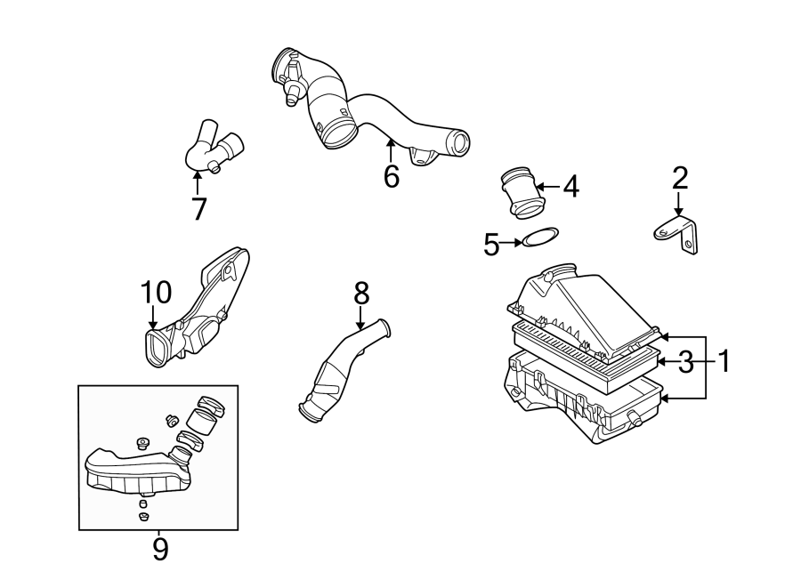 Volkswagen Beetle Engine Air Intake Hose. 2.0 LITER, w/o