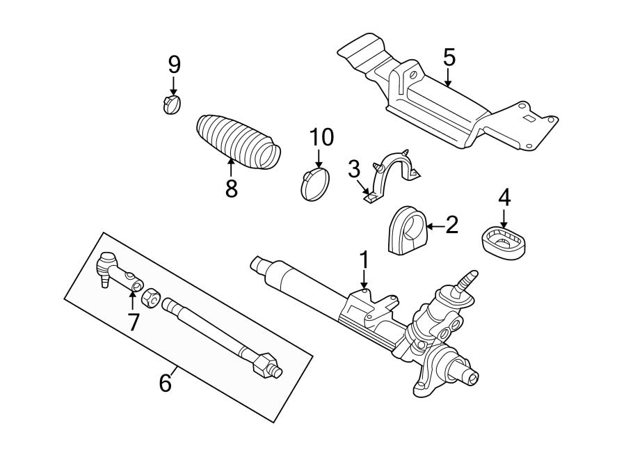 Volkswagen Beetle Convertible Steering Tie Rod Assembly