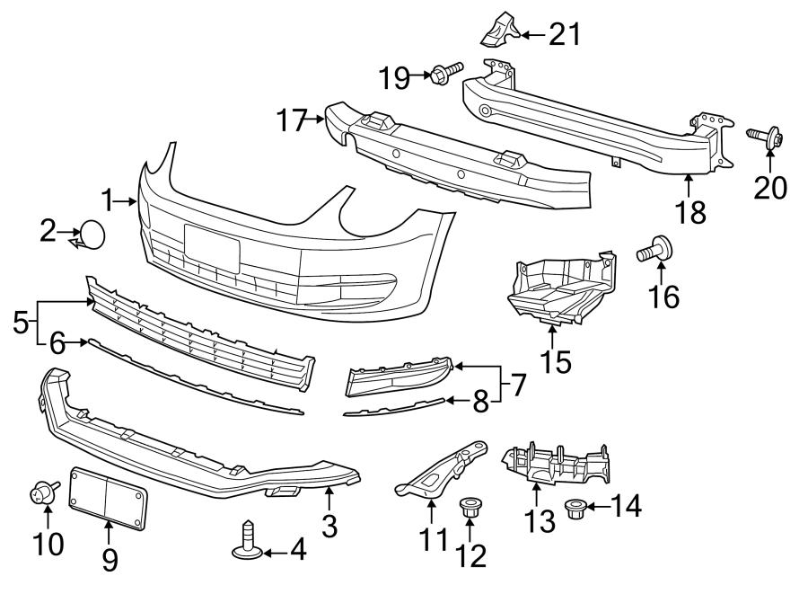 Volkswagen Beetle Convertible Grille. W/park sensors, w/o