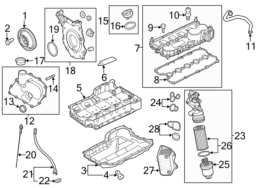 Volkswagen Beetle Engine Oil Filler Tube Seal. 2.5 LITER