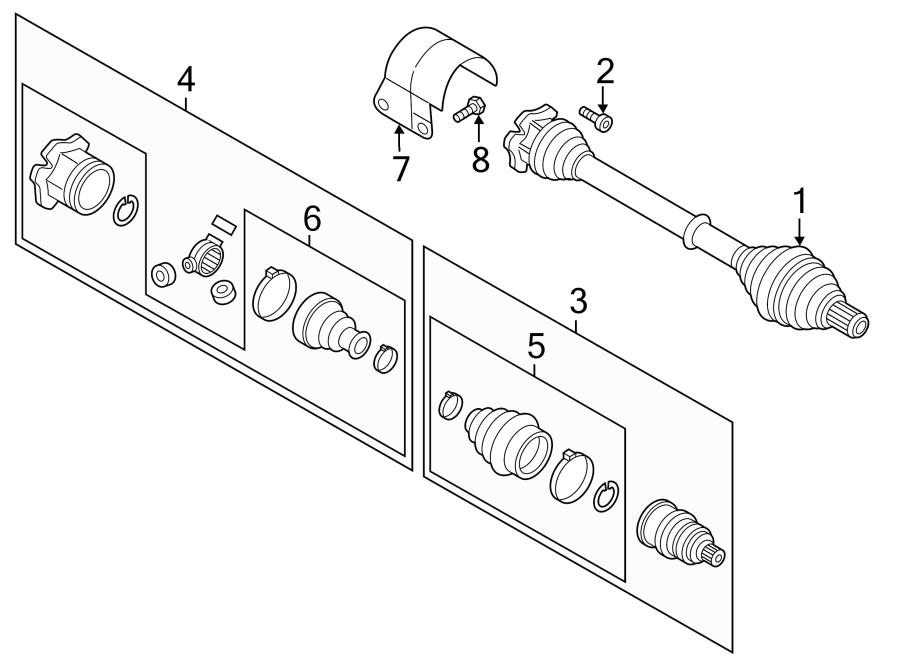 Volkswagen Beetle Cv joint kit. Trans, auto, liter