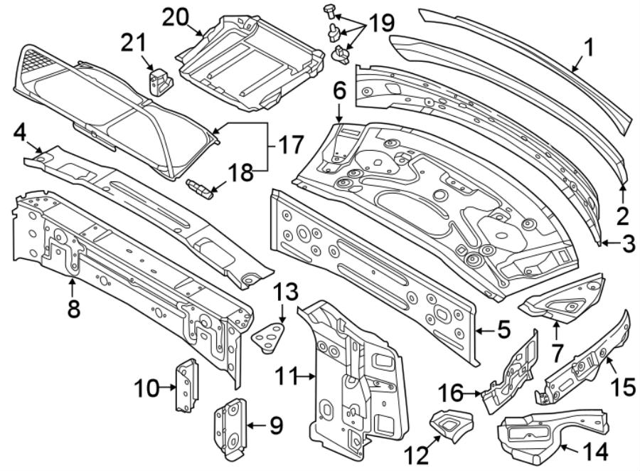 Volkswagen Beetle Convertible Partition Panel Bracket