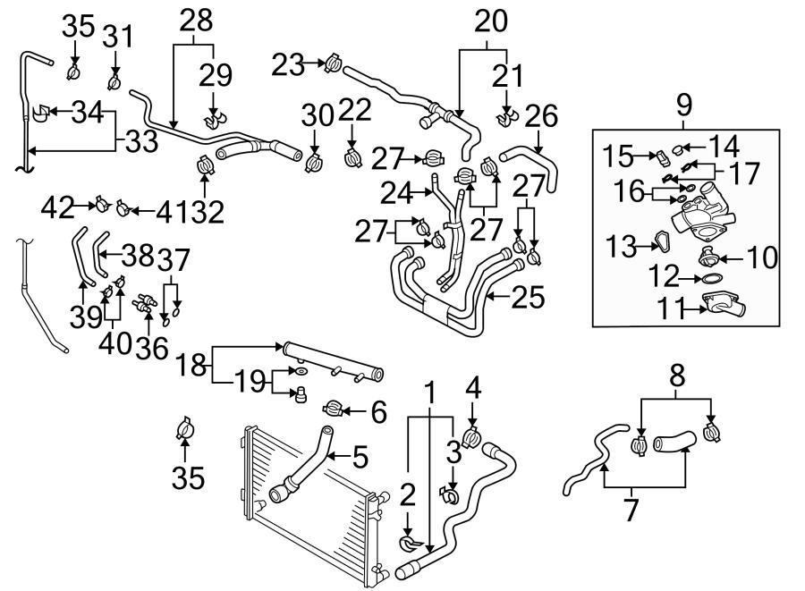Volkswagen Touareg Engine Coolant Pipe. 3.2 LITER, W/REAR