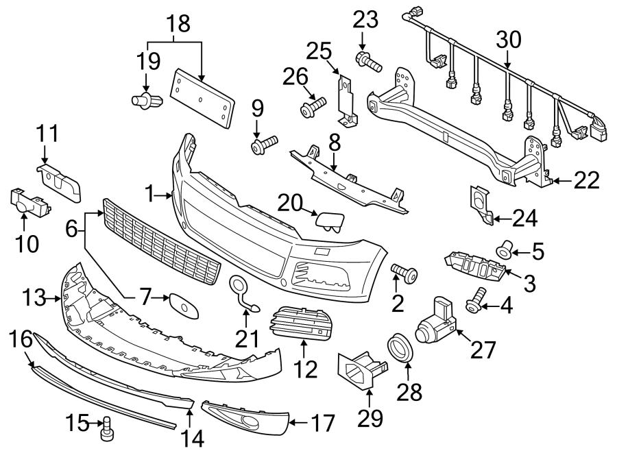 Volkswagen Touareg Retainer. Guide. 2011-14. 2011-14