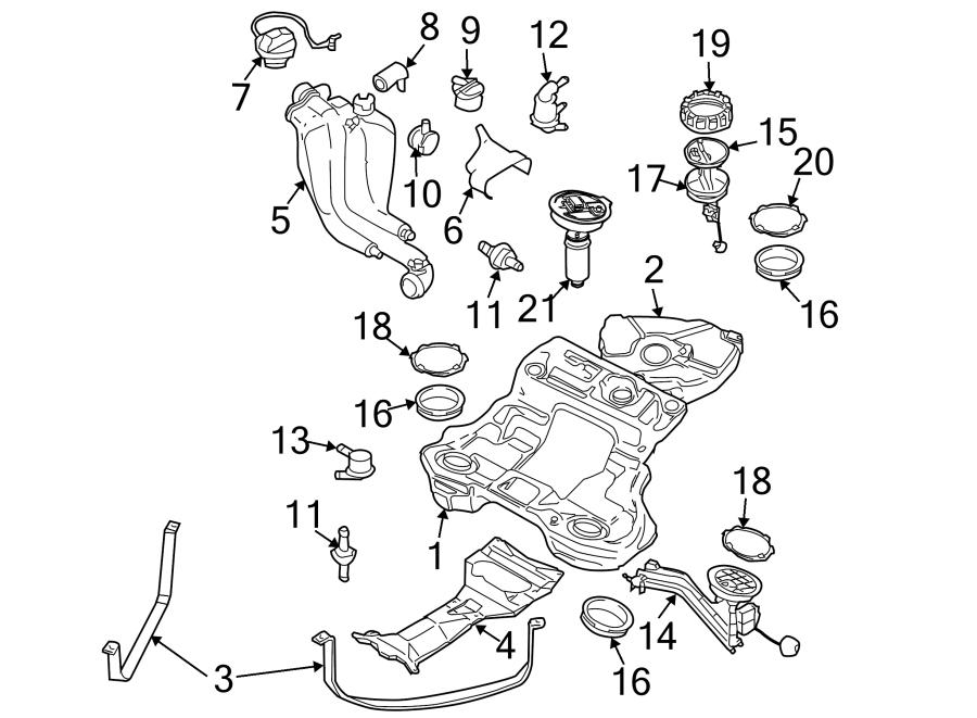 2003 Volkswagen Passat Wagon Electric Fuel Pump. AWD, 4.0