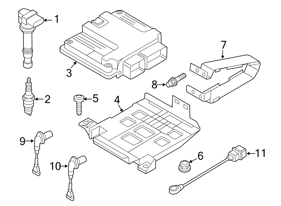 Volkswagen CC Engine Camshaft Position Sensor. Engine