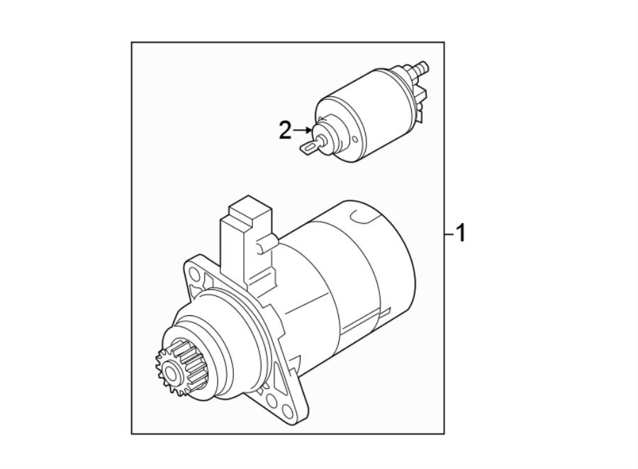 2016 Volkswagen Passat Starter Motor. Remanufactured