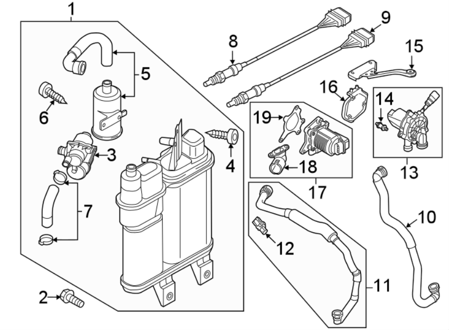 2015 Volkswagen Passat Mount bracket. 1.8 LITER. Emission