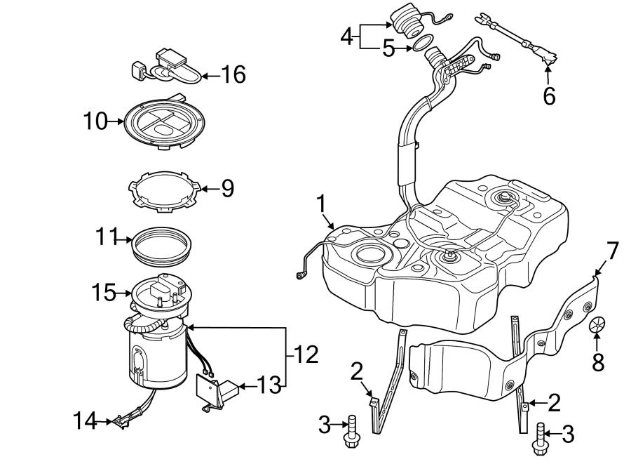 Volkswagen Passat Pump. Fuel. Strainer. W/AWD. W/O AWD