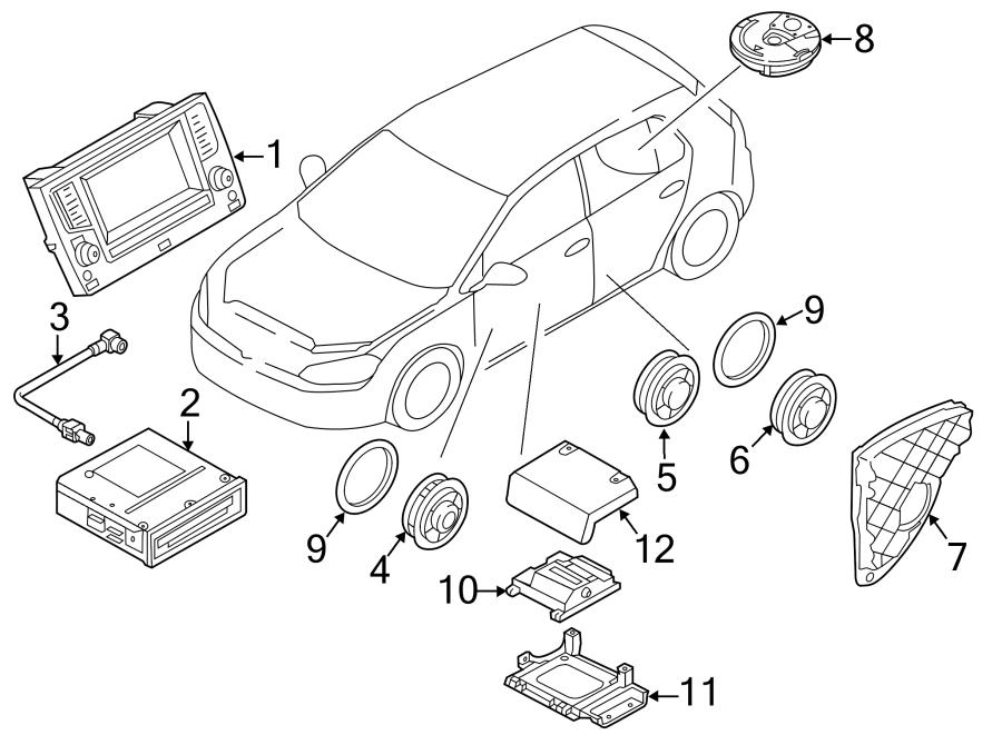 Volkswagen Golf Control. Unit. CTRL. GPS Navigation Module