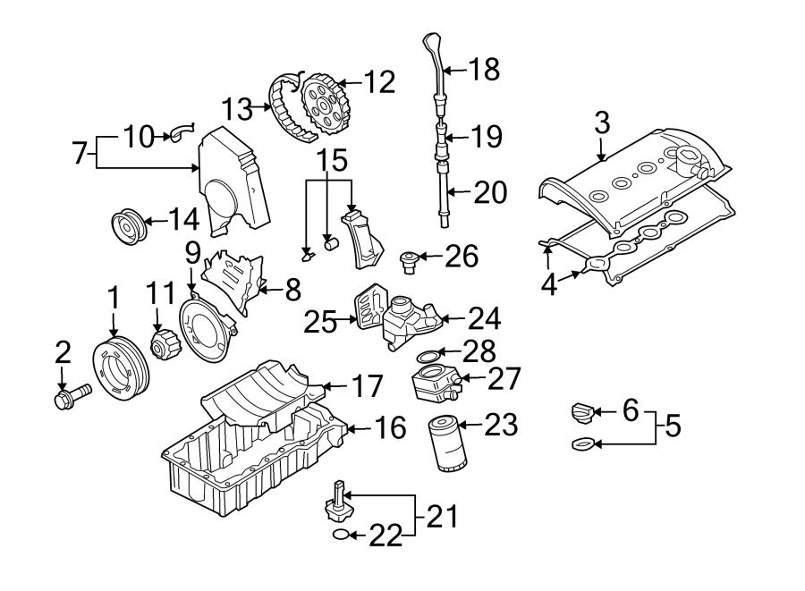 Volkswagen Jetta Wagon Engine Oil Filter Housing Cap
