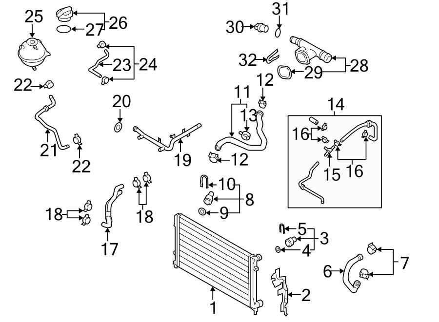 Volkswagen Jetta Water hose. 1.9 LITER, manual trans
