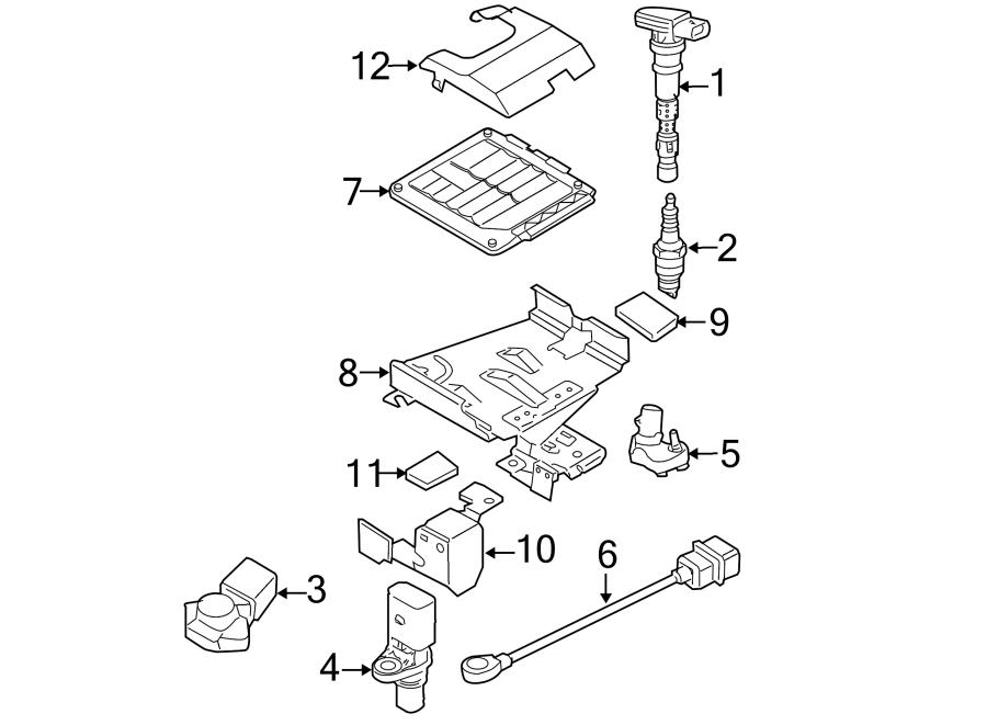 Volkswagen Jetta Engine Control Module Bracket. LITER, VIN