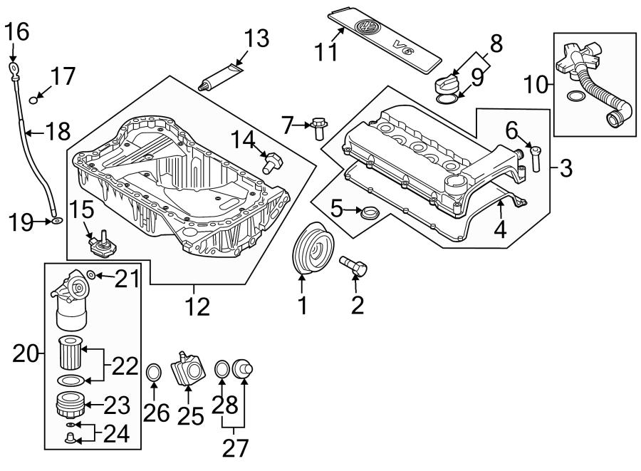 Volkswagen R32 Ring. Dipstick. Engine. Seal. Oil
