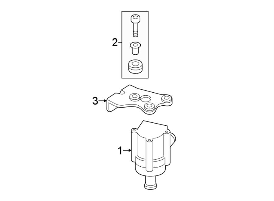 Volkswagen GTI Engine Water Pump Hardware Kit. 1.8 LITER