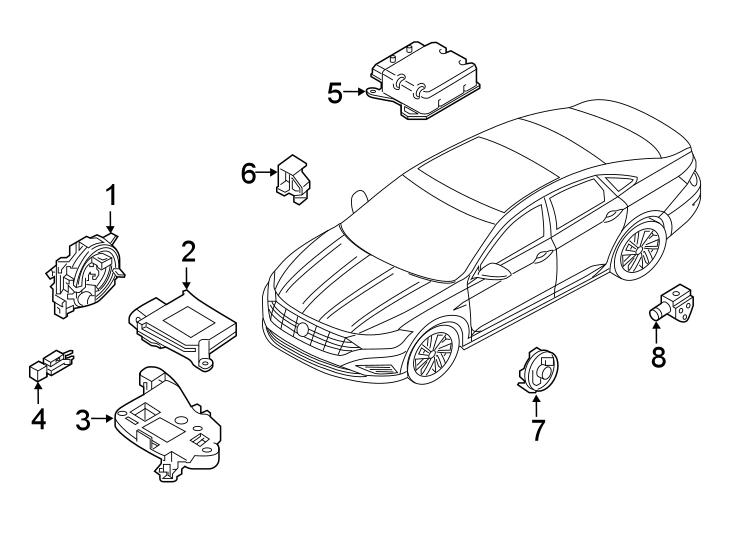 Volkswagen Jetta Air Bag Control Module. Make, Airbag