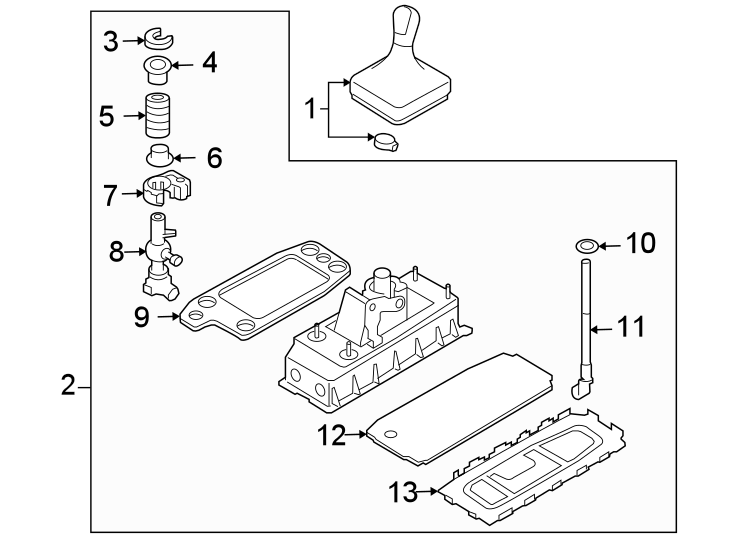 Volkswagen Eos Manual Transmission Shift Lever. Shifter