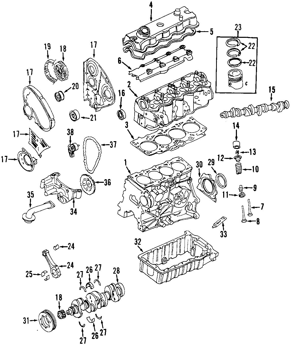Volkswagen Beetle Convertible Engine Valve Spring Retainer