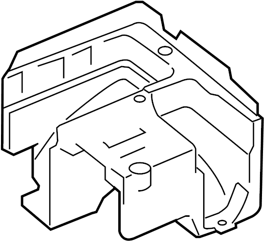 Volkswagen Jetta Wagon Fuse and Relay Center Bracket. Fuse
