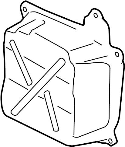 Volkswagen Jetta Automatic Transmission Oil Pan. Side