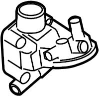 Volkswagen Jetta GLI Adapter. Engine oil cooler bracket