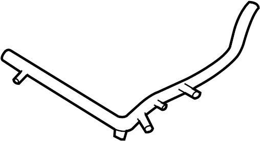 Volkswagen Beetle Engine Coolant Pipe (Front). LITER