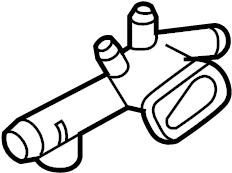 Volkswagen Beetle Convertible Engine Coolant Outlet Flange