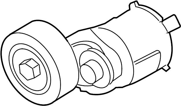 Volkswagen Passat Accessory Drive Belt Tensioner Assembly