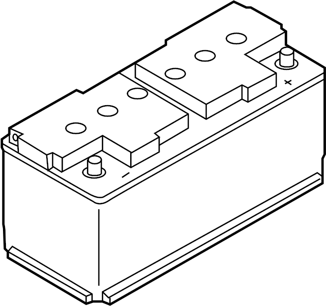 Volkswagen Tiguan Vehicle Battery. TRANS, Manual, Auto