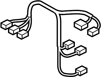 Volkswagen Touareg Hvac system wiring harness. W/o aux