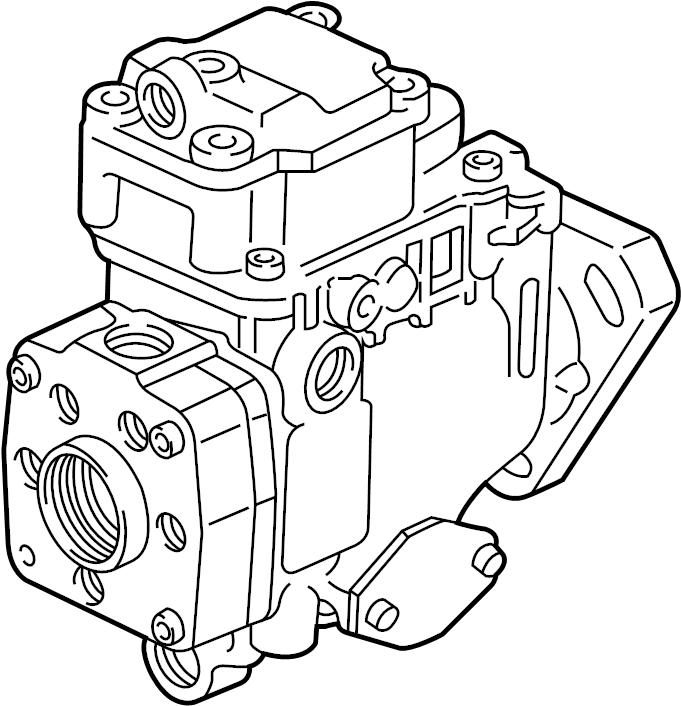 Volkswagen Jetta Diesel Fuel Injector Pump. ENGINE, Trans