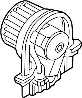 Volkswagen Beetle Convertible Blower. Motor. Fan. HVAC