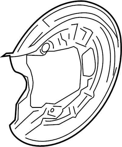 Volkswagen GTI Brake Dust Shield. Right, REAR, Rotor