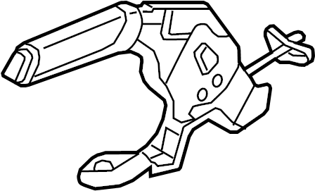 Volkswagen Jetta Lever. Parking brake control. Leather
