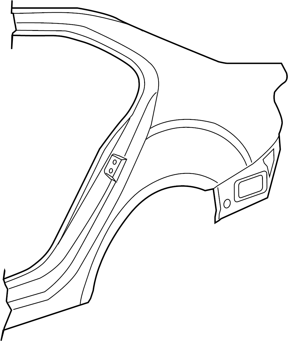 Volkswagen Jetta Quarter Panel (Upper). SEDAN