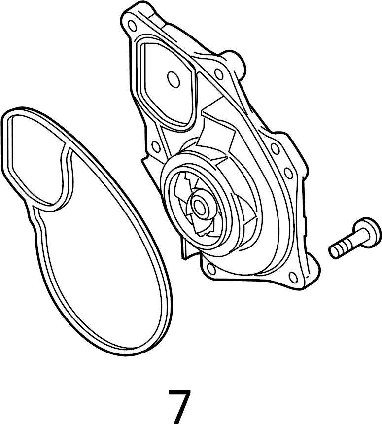 Volkswagen Jetta GLI Engine Water Pump Gasket. MAIN, LITER