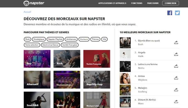 Napster version Web