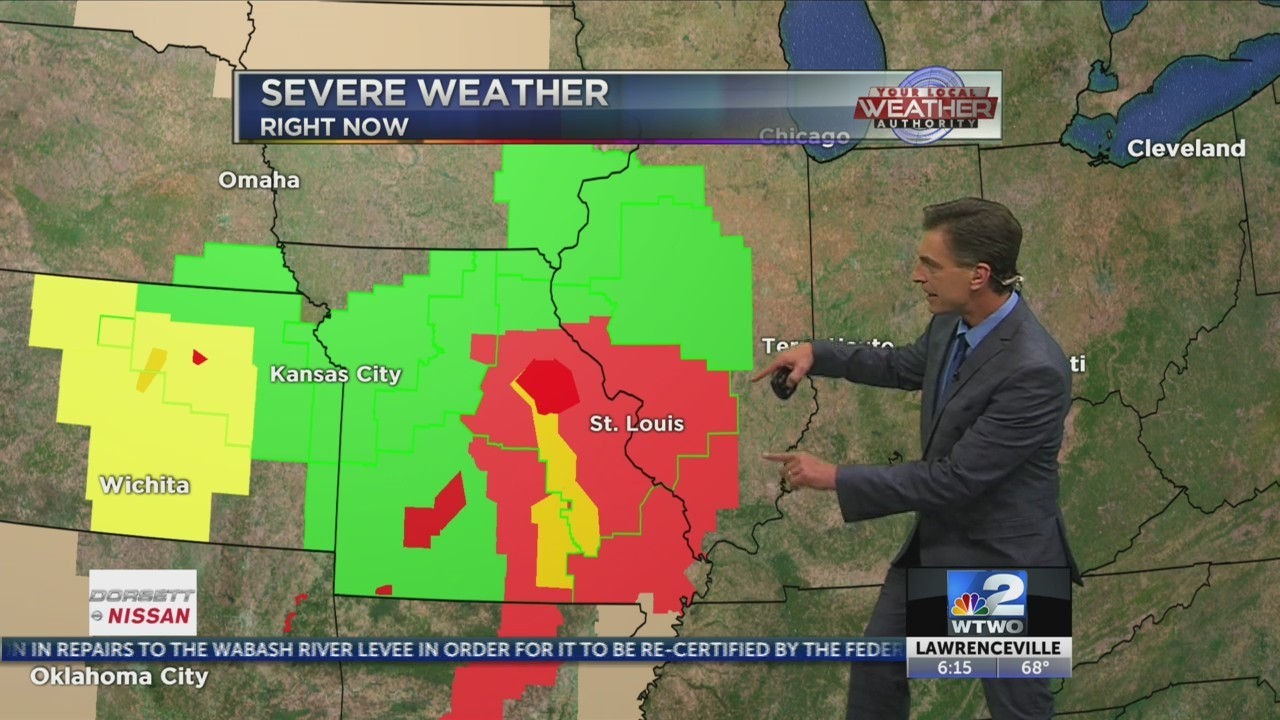 Overnight storms and warming up