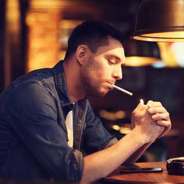 smoking causing tooth infection
