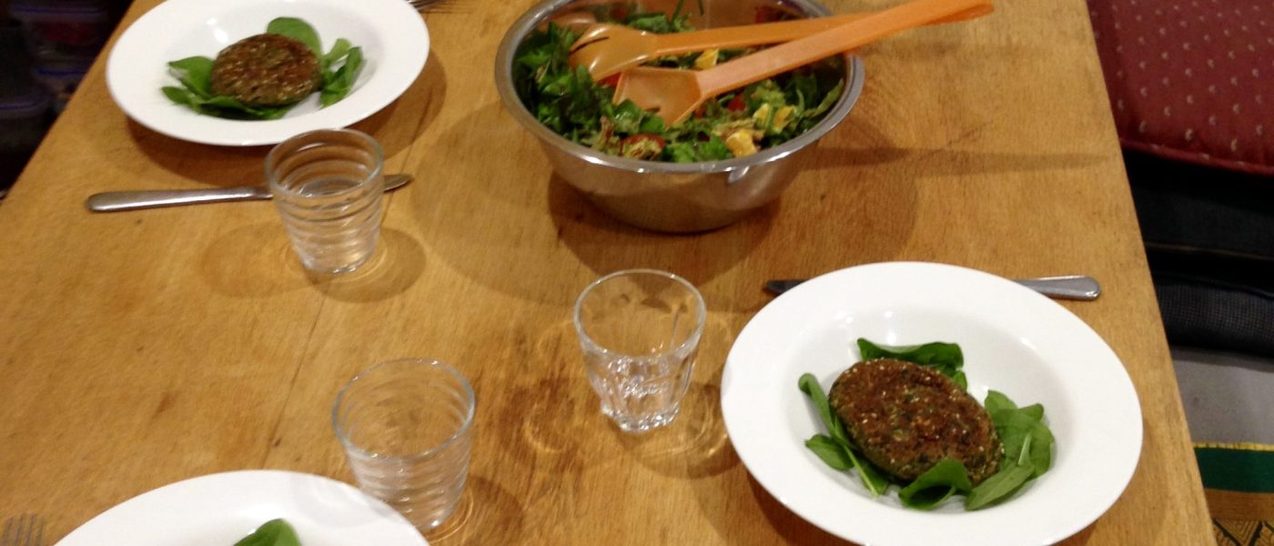 Gluten free recipe; delicious spinach patties (also vegan). ENJOY