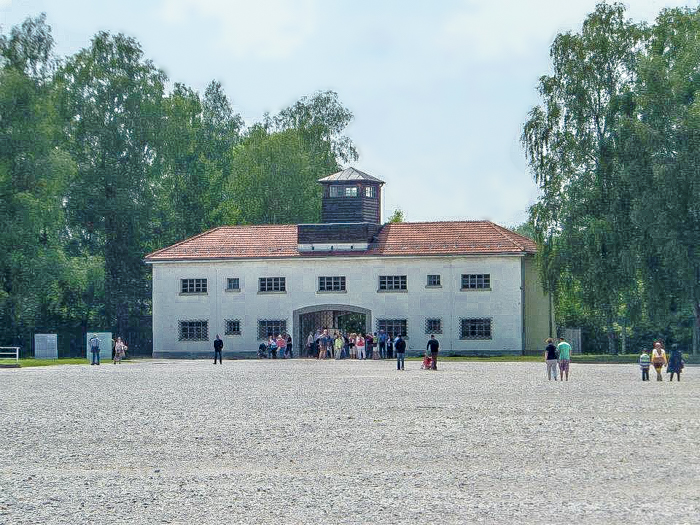 Visiting Dachau Concentration Camp | outside Munich, Germany | World War 2 | WWII | arbeit macht frei | Work will set you free | Main entrance