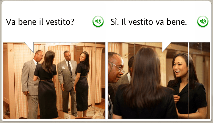 The funniest Rosetta Stone stock images: Italian, do you like the dress