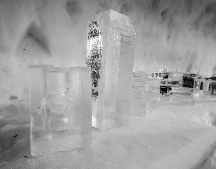 Hôtel de Glace // Straight Chillin' at Québec City's Ice Hotel | Québec City's ice hotel | ice blocks