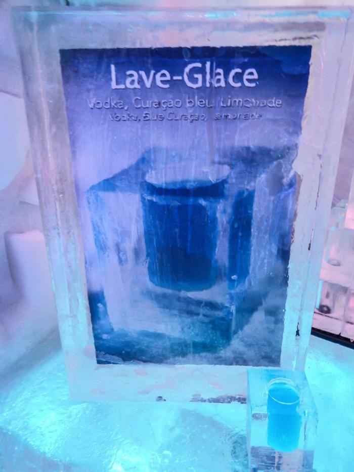 "Hôtel de Glace // Straight Chillin' at Québec City's Ice Hotel   Québec City's ice hotel   ice drinks   ""Windshield Washer Fluid"""