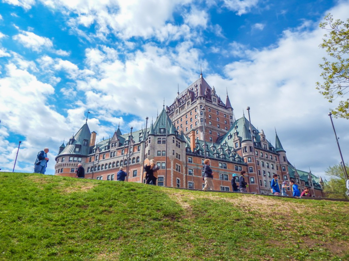Château Frontenac & the Weekend of Spoils| Québec City's Château Frontenac in the spring