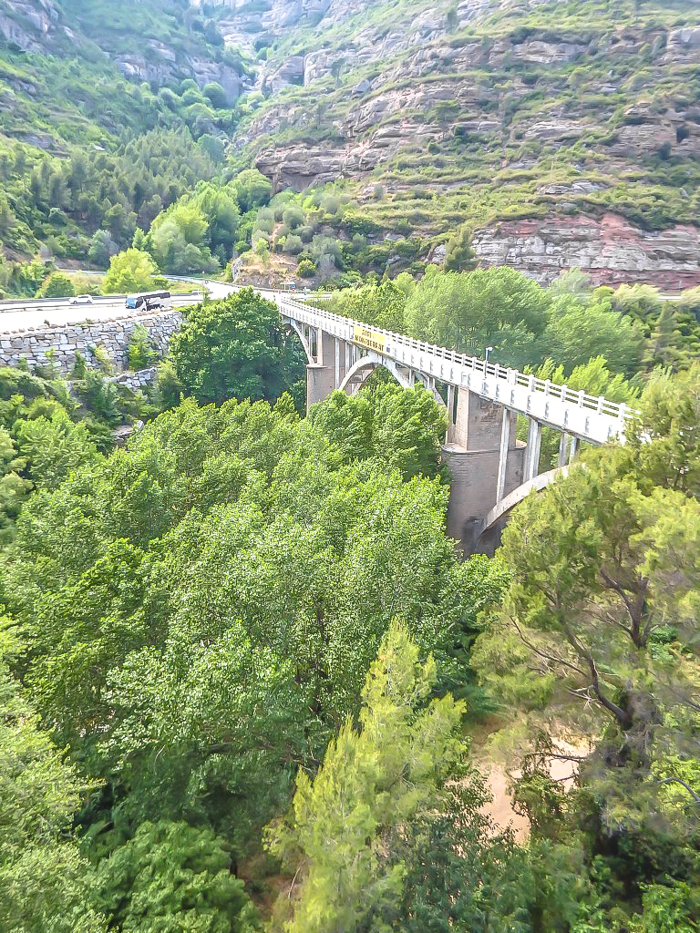 Day trip to Montserrat | 4 days in Barcelona, Spain, Catalonia | Things to do in Barcelona | What to do in Barcelona | Catholic monastery | Catalunya | 1 day in Montserrat | Serrated Mountains | bridge