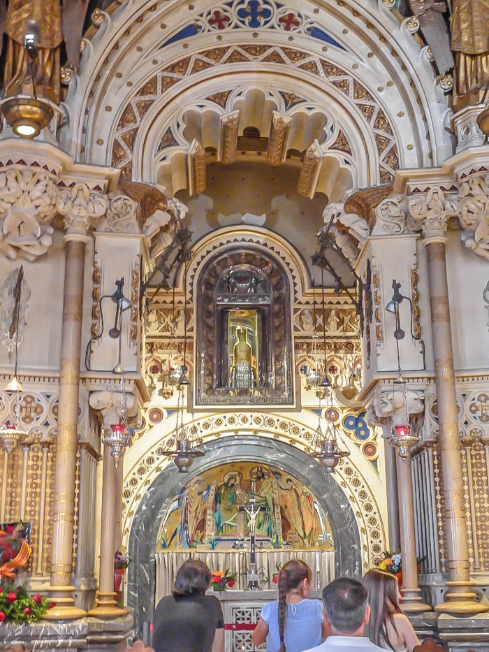 Day trip to Montserrat   4 days in Barcelona, Spain, Catalonia   Things to do in Barcelona   What to do in Barcelona   Catholic monastery   Catalunya   1 day in Montserrat   Serrated Mountains   black madonna chapel