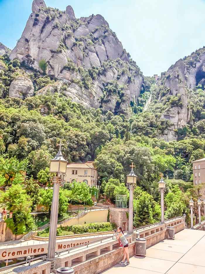 Day trip to Montserrat   4 days in Barcelona, Spain, Catalonia   Things to do in Barcelona   What to do in Barcelona   Catholic monastery   Catalunya   1 day in Montserrat   Serrated Mountains  