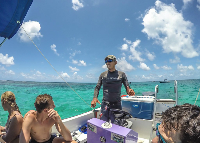 Snorkeling | Belize | Our guide Ronnie with Caveman Snorkeling Tours in Caye Caulker, Belize