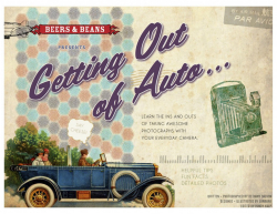 The Getting Out of Auto E-book by Beers and Beans